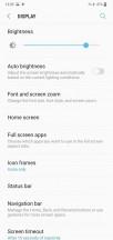 Display settings and navigation bar settings - Samsung Galaxy M10 review