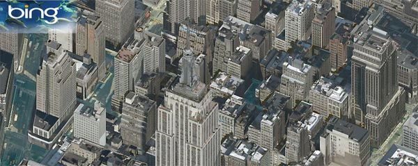Bing Maps Impresses With Bird's Eye View, Map Apps