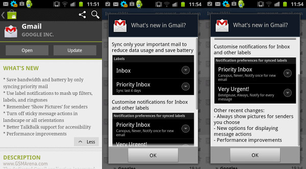 Gmail for Android v2 3 5 update lets you pick what labels to