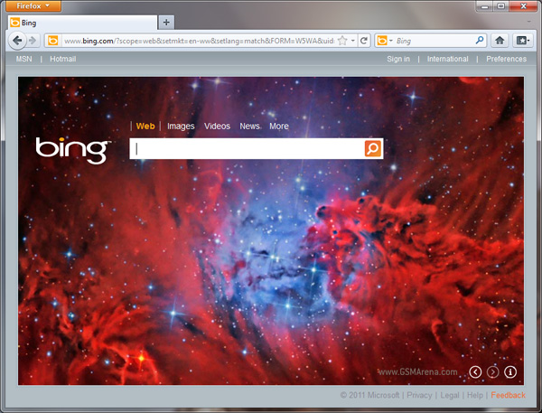 Special Version of Firefox with Bing Comes in Google Place