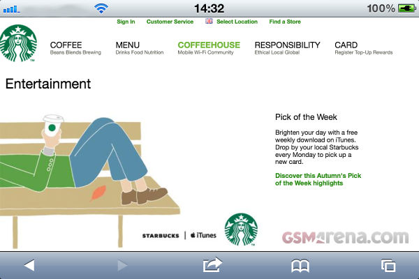"""Starbucks launches """"Pick of the week"""" in the UK – offers free iTunes"""