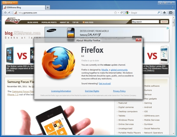 Firefox 8 now available for download, brings nothing significant to