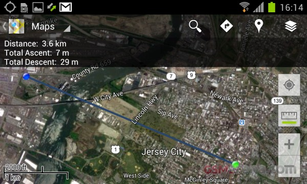 Google Maps for Android updated with scale bar, elevation data