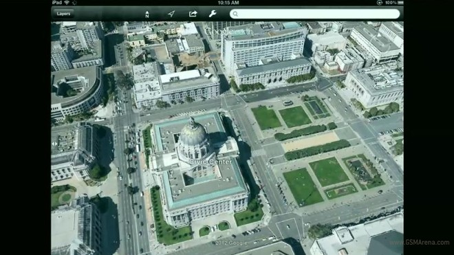 Android getting offline Google Maps access, Google Earth for