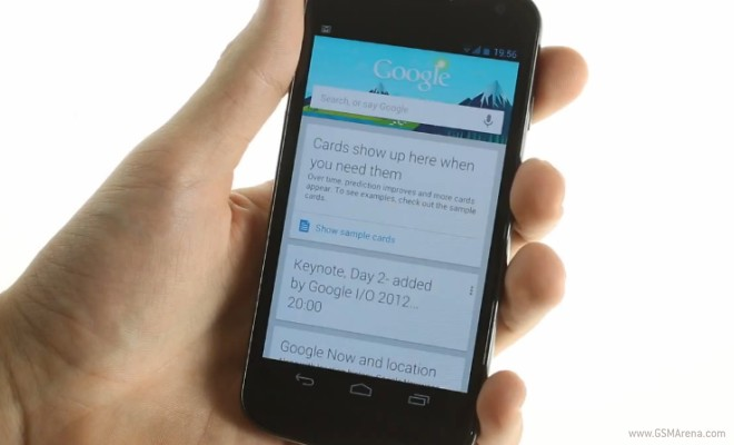 Google Now hits AOSP ICS devices, voice commands not supported just yet