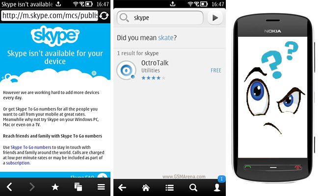 Download skype for your nokia symbian phone now.