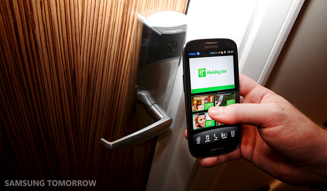 London's Stratford Holiday Inn turns Samsung Galaxy S III into the