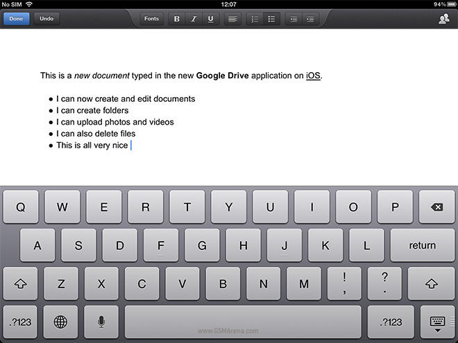 Latest Google Drive update for iOS lets you create and edit