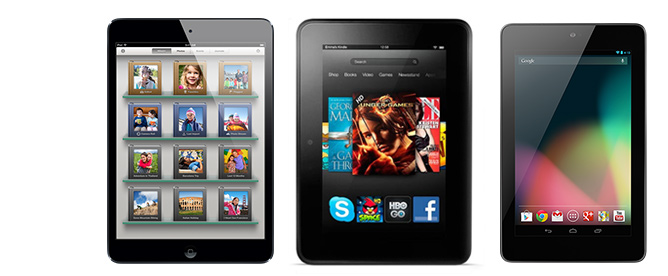 Apple Ipad Vs Kindle: Apple IPad Mini Vs. The Nexus 7 Vs. Kindle Fire HD: The