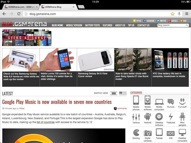 Chrome for iOS update brings fullscreen mode, wireless printing