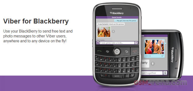 Viber launches on BlackBerry OS 5 and OS 7