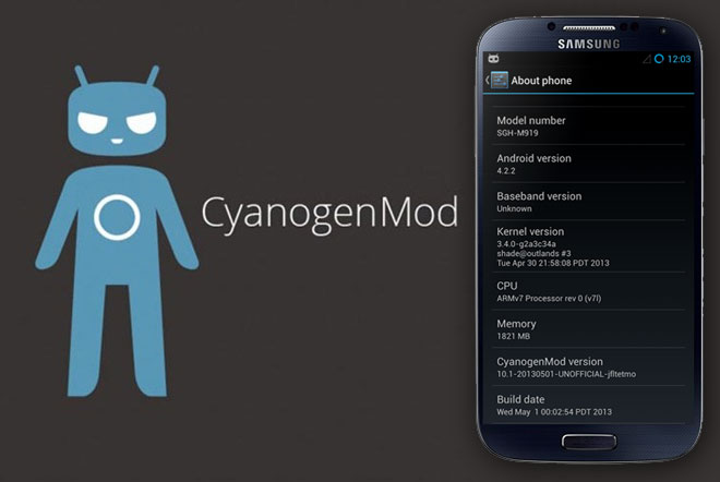 CyanogenMod 10 1 Nightly available for Samsung Galaxy S4 for