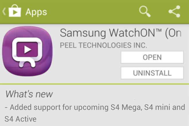Samsung Galaxy S4 Mega Pops Up In Samsung Watchon Update Description