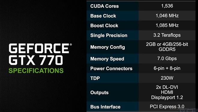 NVIDIA announces GeForce GTX 770 GPU for $399