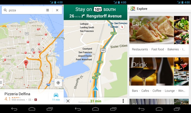 Google Maps 7.0 for Android starts rolling out on google maps update, google maps screenshot, google maps path,