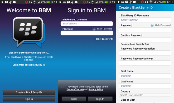 BlackBerry Messenger for Android leaks in APK form, doesn't do