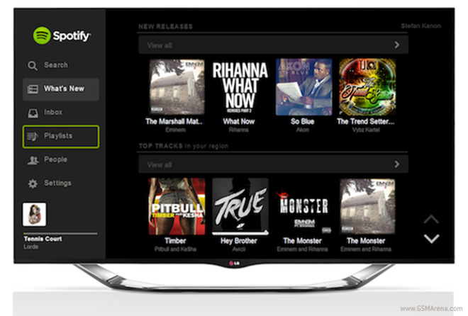 spotify music lyssna gratis på lg tv