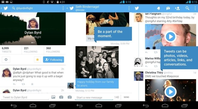 Twitter updates iOS and Android apps, brings new UI and photo DMs