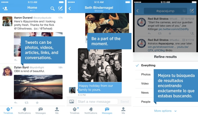 Twitter updates iOS and Android apps, brings new UI and