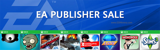 Windows Phone and Xbox titles from EA Games up to 75% off