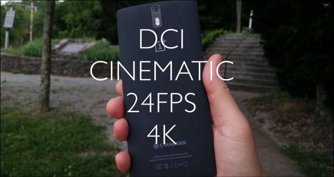 OnePlus One is the first smartphone to record in DCI 4K, check it