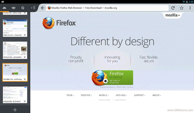New Firefox Beta for Android lets you add services to its