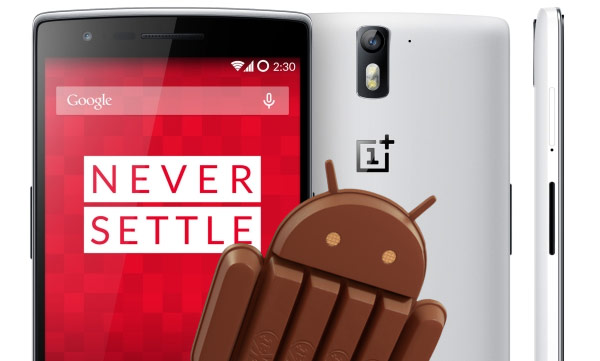 OnePlus One receives an official stock Android 4 4 4 KitKat ROM