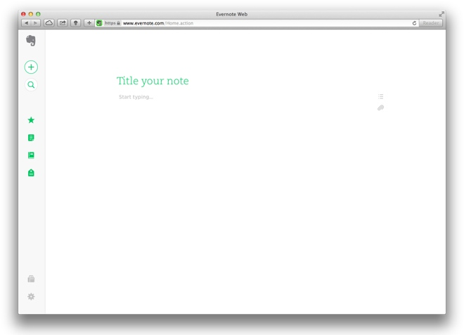 Evernote web update is simple and beautiful