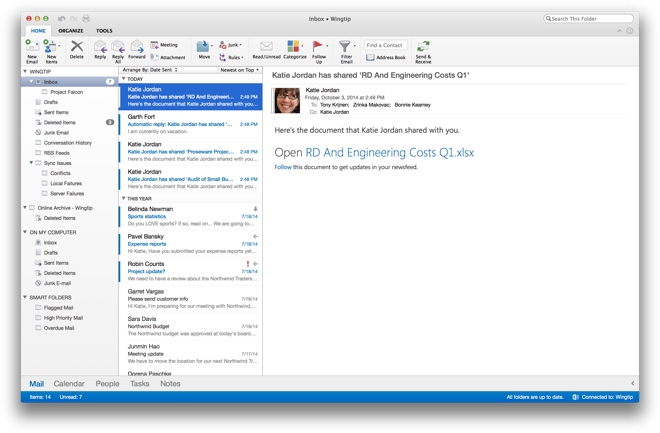 Microsoft releases new Outlook for Mac