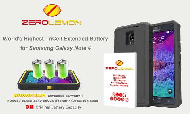 pretty nice 3bc46 e0360 Zerolemon offers 10,000mAh extended battery for Note 4