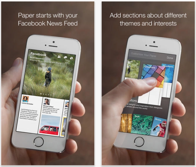 Facebook paper app help