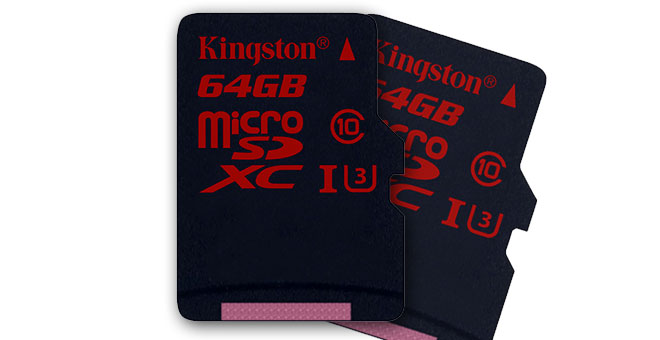 Kingston's latest memory cards are UHS-I Speed Class 3 with 90MB/s