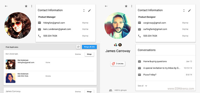 google contacts wants to eventually be your online address book