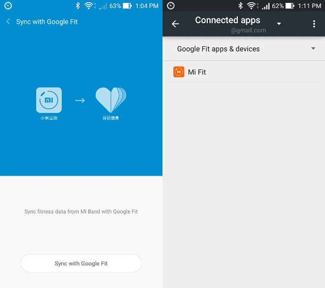 Xiaomi Mi Band can now sync with Google Fit