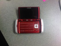 Nameless Samsung phone with full QWERTY and two screens