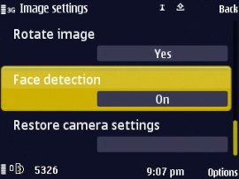 Nokia N86 8MP gets an update, face detection