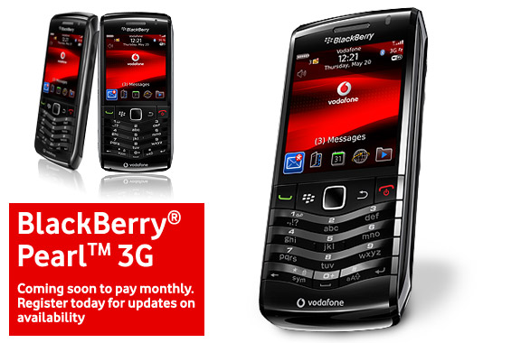Nokia C3 and BlackBerry Pearl 3G headed for Vodafone UK