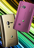 Sony Ericsson XPERIA X10 mini and X10 mini pro go pink and gold