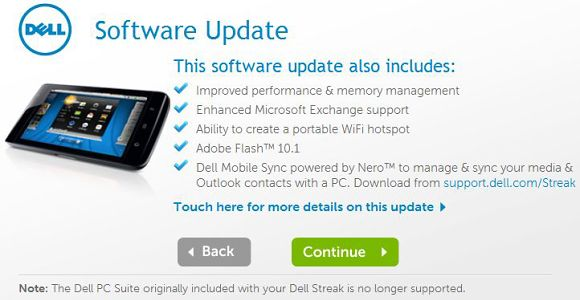Froyo, new UI coming to Dell Streak in the UK soon
