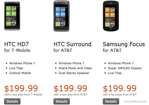 Windows Phone 7 in the US