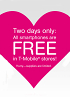 Two days of free phones from T-Mobile, smartphones galore