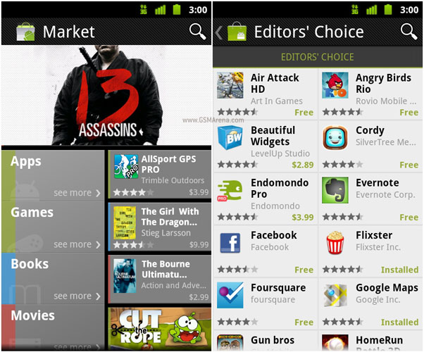 Google updates Android Market app on the phone