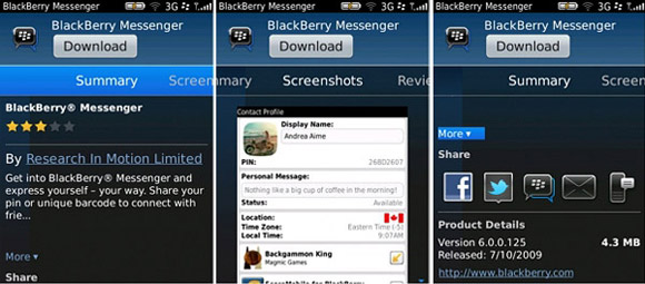 BlackBerry App World 3 0 Beta now available to try - GSMArena com news