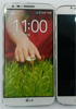 LG G2 sized up against the Samsung Galaxy S4