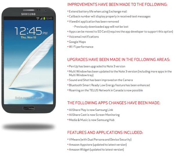 Android 4 3 makes its way to Verizon's Galaxy Note II - GSMArena com