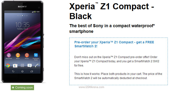 sony xperia z1 price list. the nfc and bluetooth-enabled headset for 1 of your local currency (euro, zloty, krona, whatever case may be) with an xperia z1 compact pre-order. sony price list 4