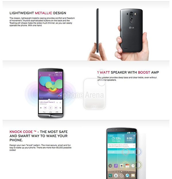 Latest LG G3 leak confirms packaging, UI design and features