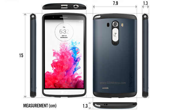 LG G3 case reveals dimensions for the upcoming flagship