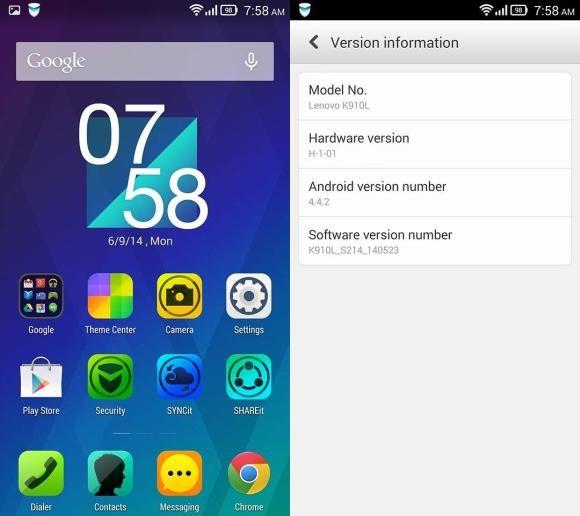 Lenovo Vibe Z Gets Android 4 4 2 Kitkat Gsmarena Com News