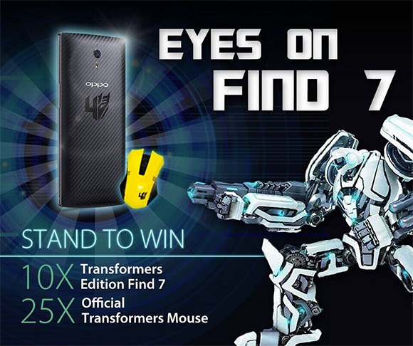 Oppo Find 7 Transformers Edition Up For Grabs In A Contest